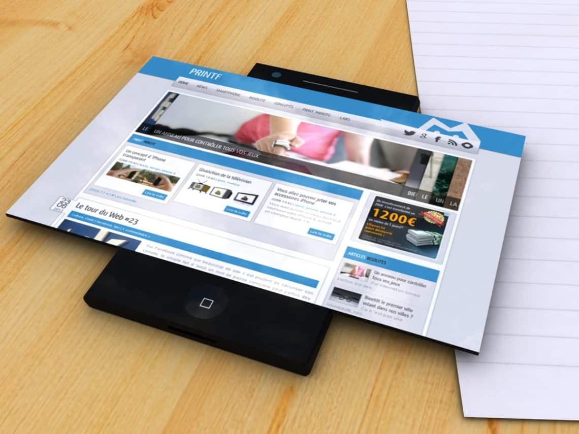 Un modèle de téléphone à écran flexible en conception